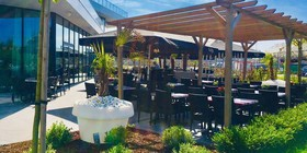 Restaurant Terrace at Van Der Valk Hotel Mons Congres